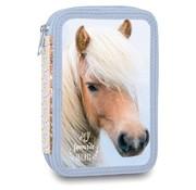 My Favourite friends Gevuld etui paard blauw