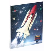 My favourite heroes Space shuttle schrift A5 gelinieerd