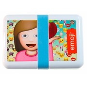 Emoji 18,5cm Lunchbox - wit