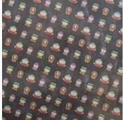 South Park Kaftpapier  - zwart