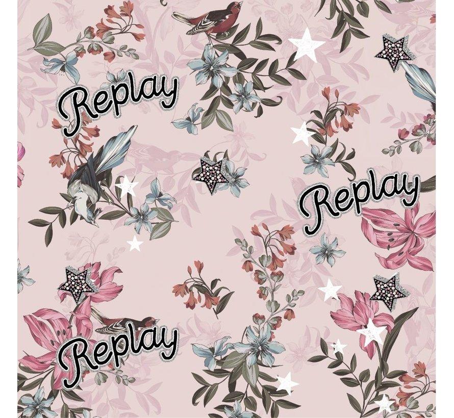 Kaftpapier - pink flowers