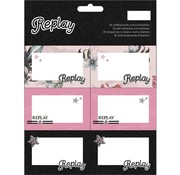 Replay Girls etiketten  - flowers