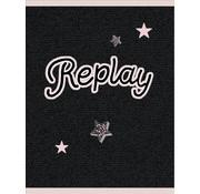 Replay A4 ruitjes schrift girls - donker