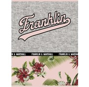 Franklin & Marshall A4 ruitjes schrift - flowers