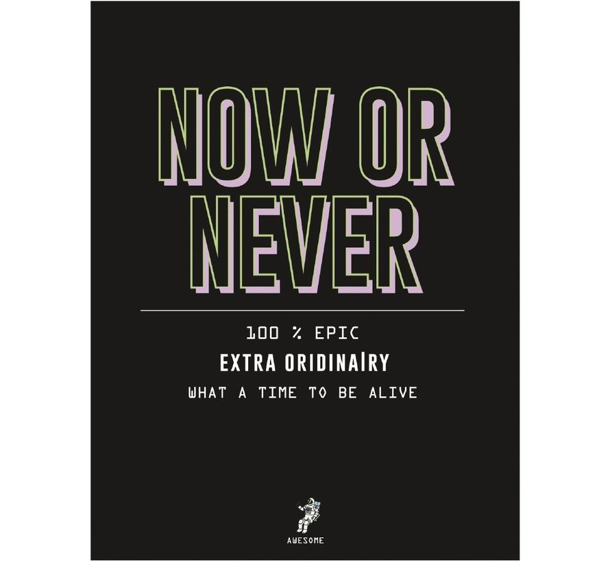 A4 schrift gelinieerd - now or never