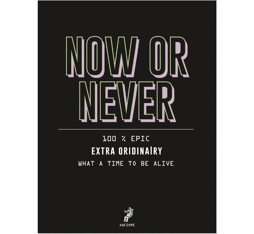 A4 schrift geruit - now or never