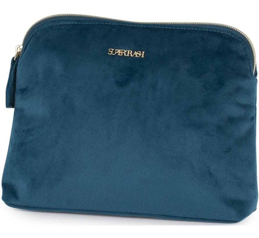 Plat schooletui / Make up bag - blauw