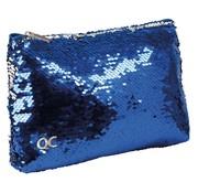 Quattro Colori Sparkle etui plat - blauw paillet