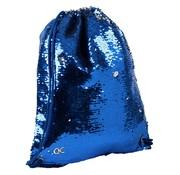 Quattro Colori Sparkle zwemtas / gymtas - blauw paillet
