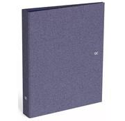 Quattro Colori Sparkle ringband 4r - blauw metallic