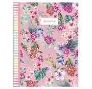 Accessorize Sweet A4 ruitjes schrift - flowers