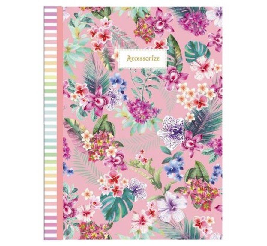 Sweet A4 schrift geruit - roze