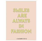 Fashionchick A4 ruitjes schrift - smiles