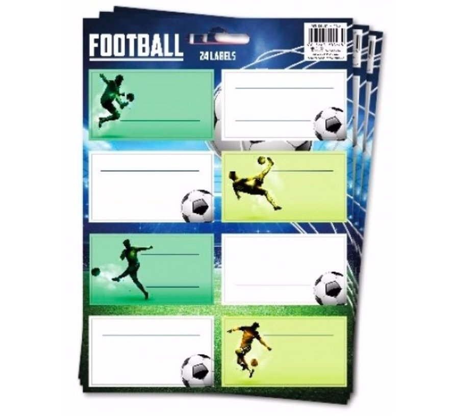 Etiketten - voetbal