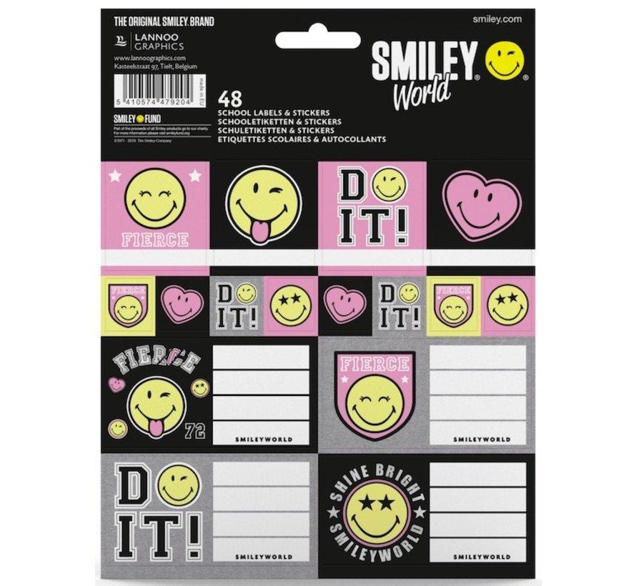 Girls schooletiketten en stickers