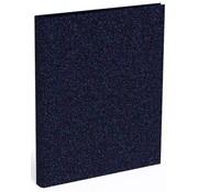 Quattro Colori Sparkle ringband 4r - donkerblauw metallic
