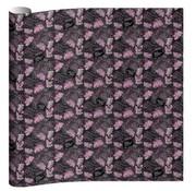 O'Neill Kaftpapier - leaves black/pink