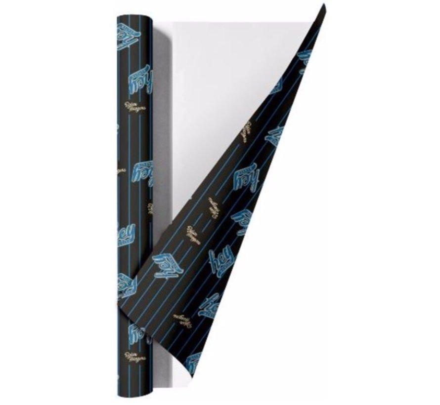 Kaftpapier - hey blauw