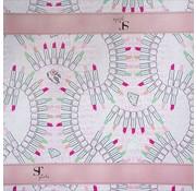 Supertrash Kaftpapier - lipstick roze