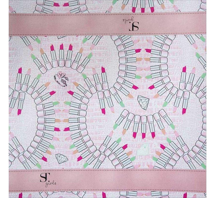 Kaftpapier - lipstick roze