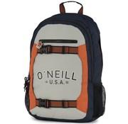 O'Neill Laptop rugzak grijs/oranje - groot