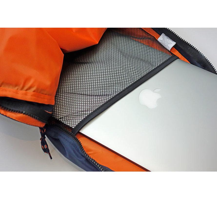 Laptop rugtas grijs/oranje - groot