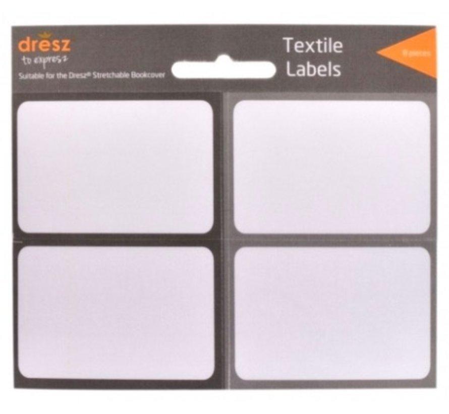 Textiel etiketten - grijs