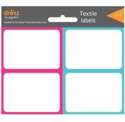 Dresz Textiel etiketten - blauw/roze