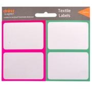 Dresz Textiel etiketten - roze/groen