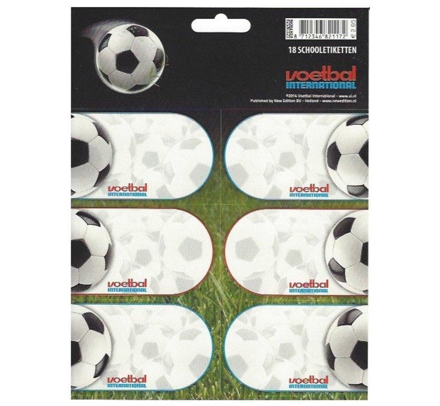 Schooletiketten - voetbal