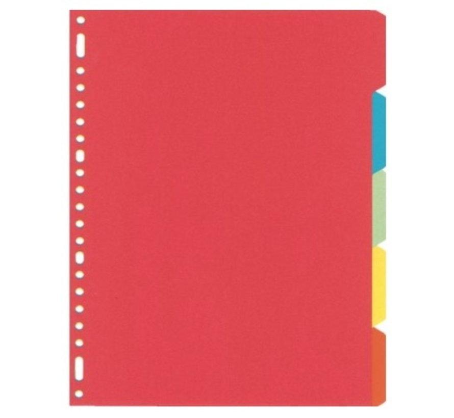 Tabbladen gekleurd karton - 5 delig