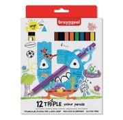 Bruynzeel Triple kleurpotloden - 12st