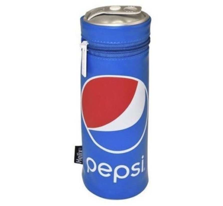 Pepsi schooletui rond - blauw
