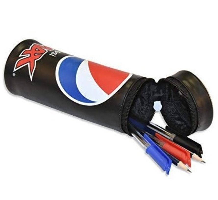 Pepsi Max schooletui rond - zwart