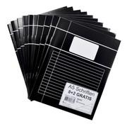 00 Merkloos Zwarte schriften A5 gelinieerd - voordeelpak
