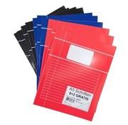 . 8+2 Gekleurde schriften A5 gelinieerd - voordeelpak