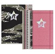 Replay A5 schriften - pink camo