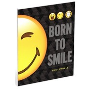 "Smileyworld A5 schriften lijn - ""born to smile"""