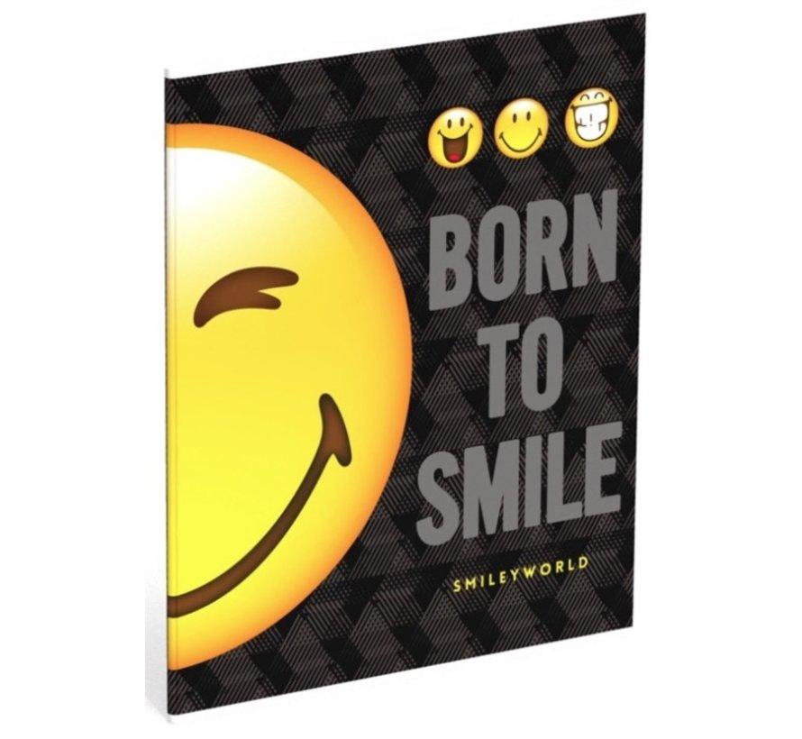 """A5 lijntjes schriften - """"born to smile"""""""