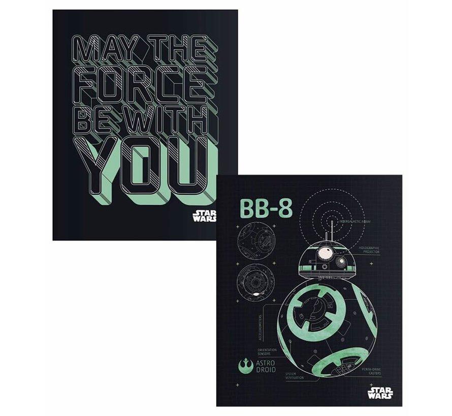 A5 lijntjes schriften - may the force