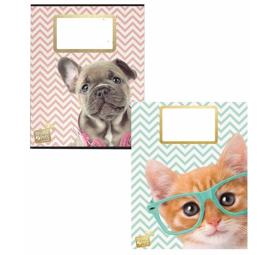 A5 lijntjes schriften - kat