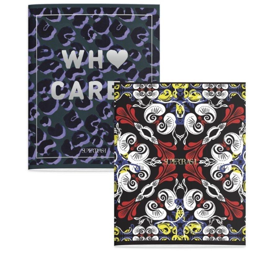 A5 lijntjes schriften - Who cares