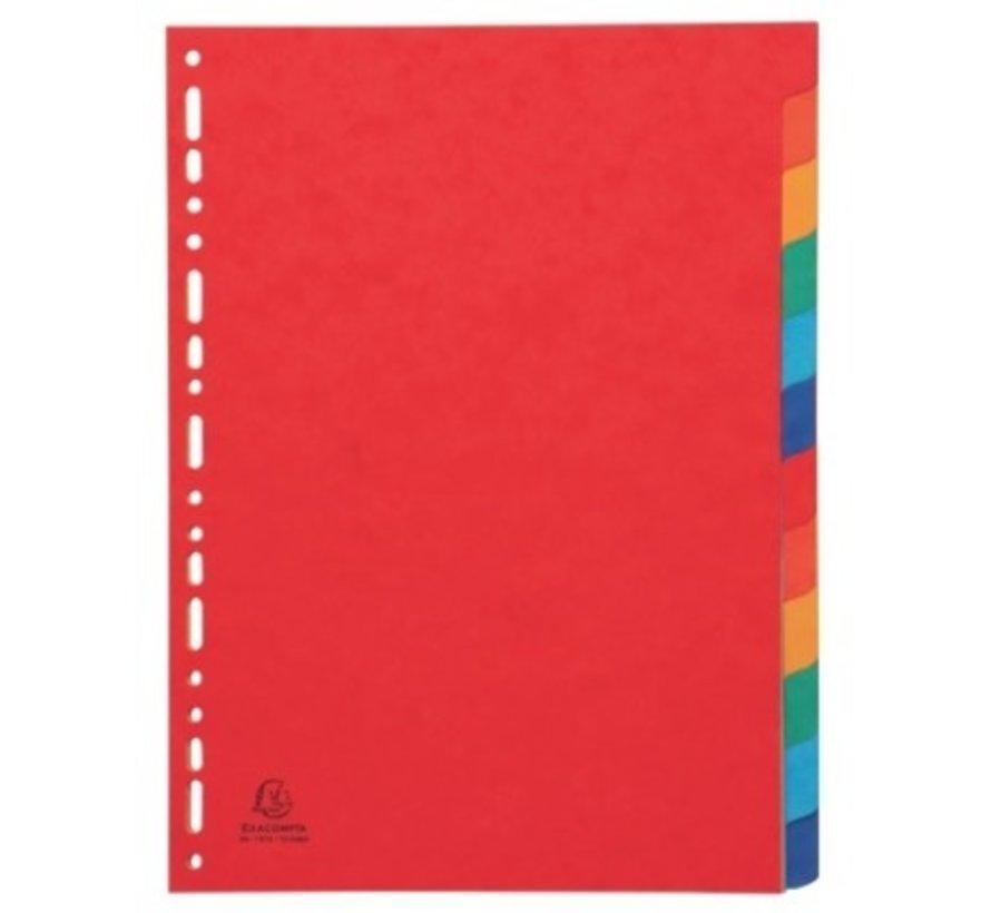 Tabbladen gekleurd karton - 12 delig extra dik