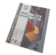 -1st- Tabbladen grijs kunststof - 1 t/m 5