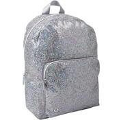 Quattro Colori Compacte rugzak - zilver glitter