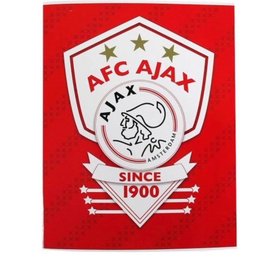Ajax since 1900 ruitjes schrift