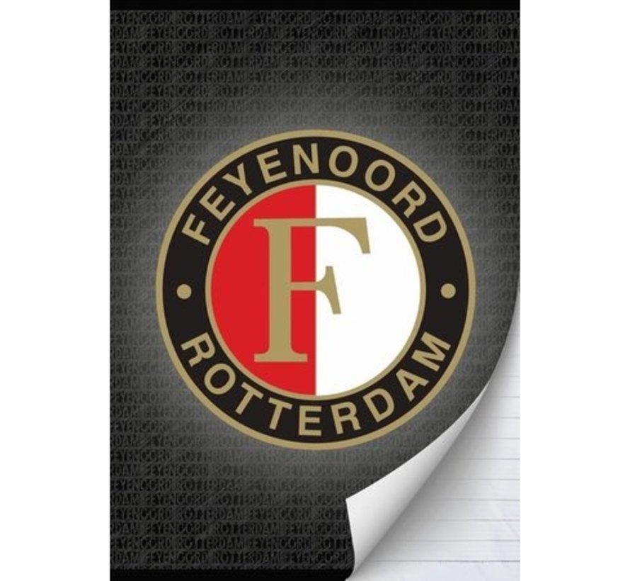 Feyenoord A4 schrift gelijnd