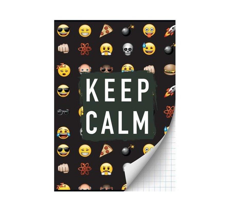 Emoji A4 schrift geruit - 2 halen 1 betalen