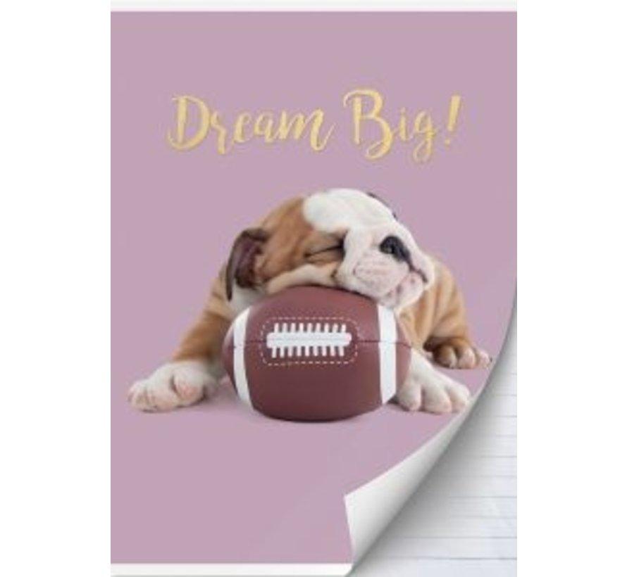 A4 schrift gelinieerd studio pets hond