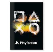 Play Station A4 ruitjes schrift Zwart